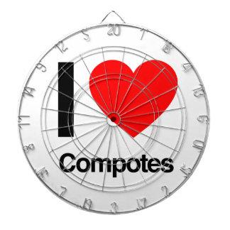 i love compotes dart board