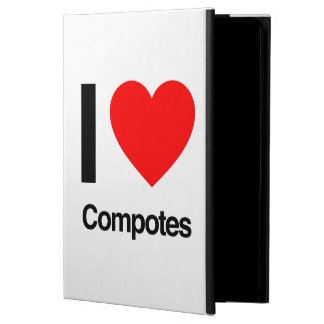 i love compotes iPad air case