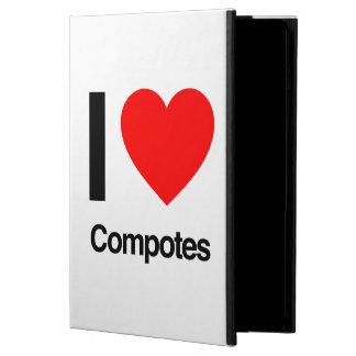 i love compotes iPad air cover
