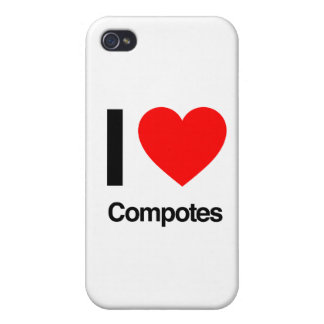 i love compotes iPhone 4 case