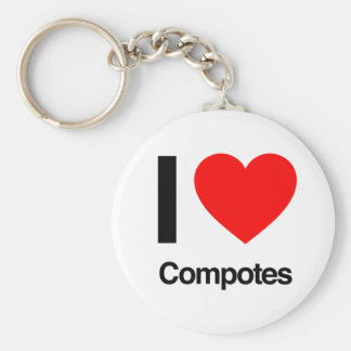 i love compotes key chains