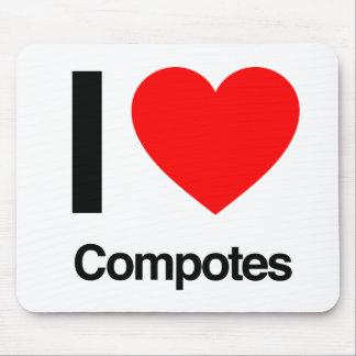 i love compotes mousepad