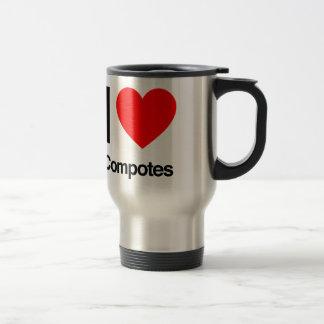 i love compotes mug