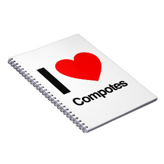 i love compotes spiral notebook