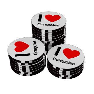 i love compotes poker chips set