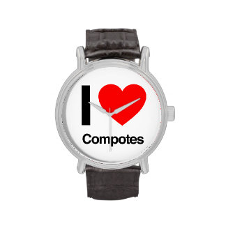 i love compotes wristwatch