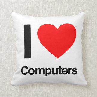 i love computers cushion