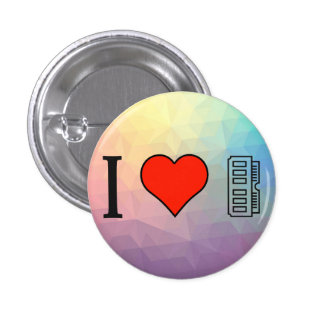 I Love Computing 3 Cm Round Badge