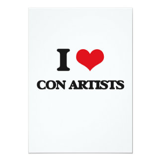 """I love Con Artists 5"""" X 7"""" Invitation Card"""