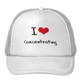 I love Concentrating Trucker Hat