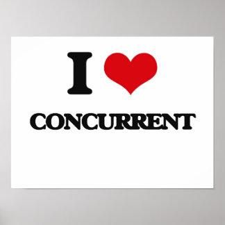 I love Concurrent Poster