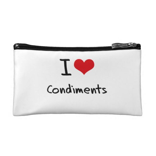 I love Condiments Cosmetic Bag
