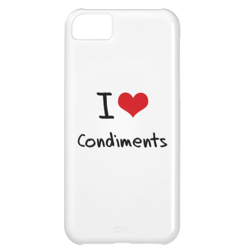 I love Condiments iPhone 5C Cover