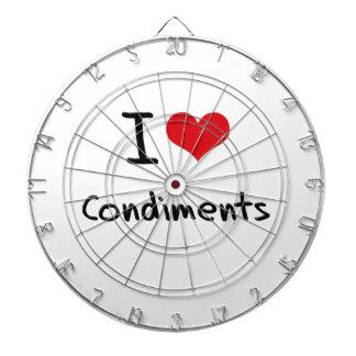 I love Condiments Dart Board