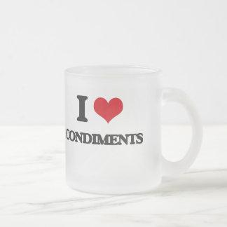 I love Condiments Mugs