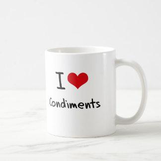 I love Condiments Coffee Mug
