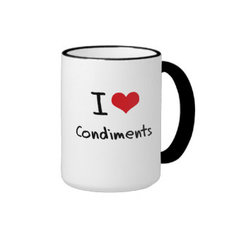 I love Condiments Coffee Mugs