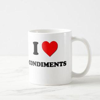 I love Condiments Classic White Coffee Mug