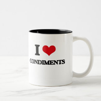 I love Condiments Mug