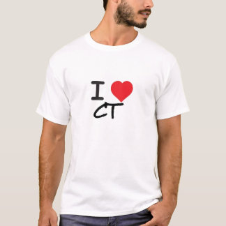 I LOVE CONNECTICUT CT T-Shirt