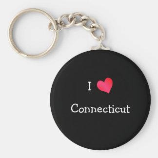 I Love Connecticut Key Ring