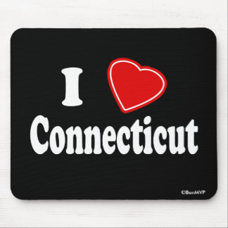 I Love Connecticut Mouse Pads