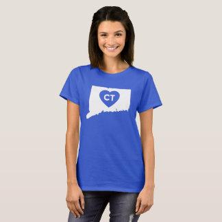 I Love Connecticut State Women's Basic T-Shirt