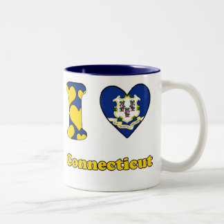 I love Connecticut Two-Tone Coffee Mug