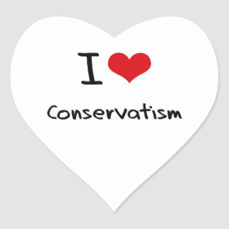 I love Conservatism Heart Stickers