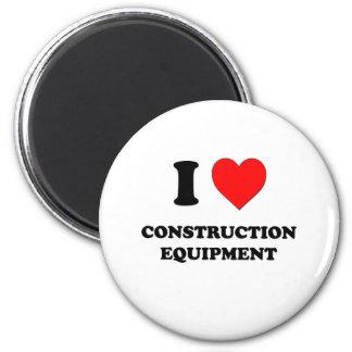 I love Construction Equipment 6 Cm Round Magnet