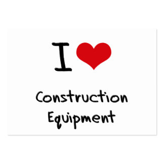 I love Construction Equipment Business Card Templates