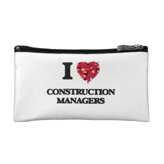 I love Construction Managers Cosmetics Bags