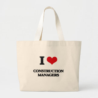 I love Construction Managers Tote Bags