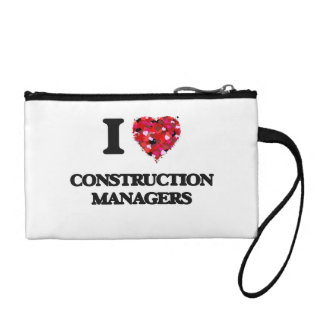 I love Construction Managers Coin Wallet