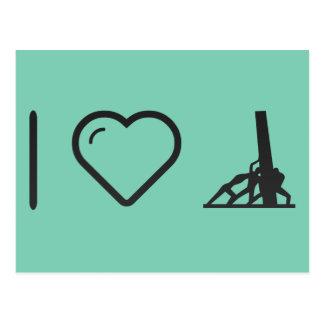I Love Construction Postcard