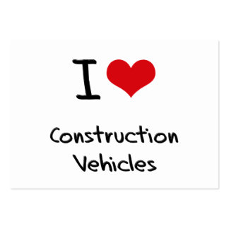 I love Construction Vehicles Business Card Templates