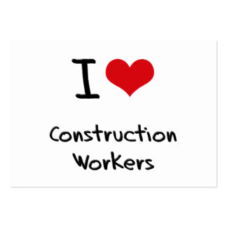 I love Construction Workers Business Card Template
