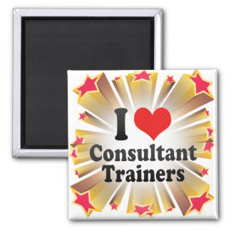 I Love Consultant Trainers Magnet