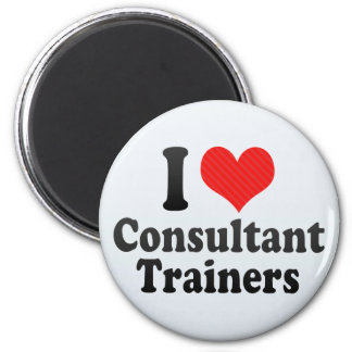 I Love Consultant Trainers Magnets