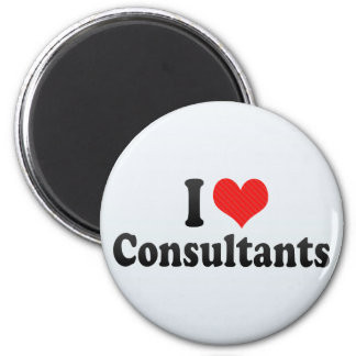 I Love Consultants Refrigerator Magnets