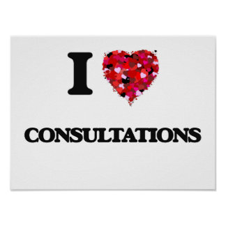 I love Consultations Poster