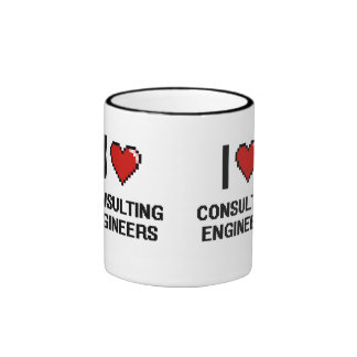 I love Consulting Engineers Ringer Mug
