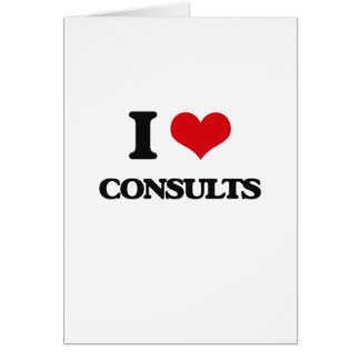 I love Consults Cards