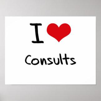 I love Consults Print