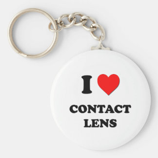 I love Contact Lens Basic Round Button Key Ring