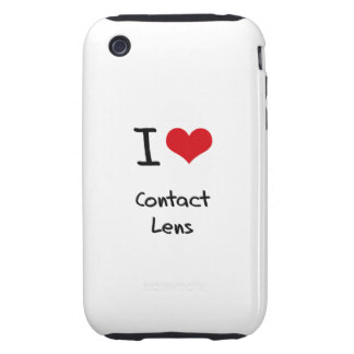 I love Contact Lens Tough iPhone 3 Cover