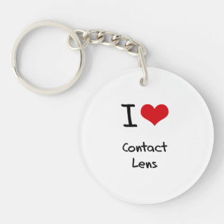 I love Contact Lens Double-Sided Round Acrylic Key Ring