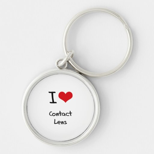 I love Contact Lens Key Chain