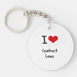 I love Contact Lens Single-Sided Round Acrylic Key Ring