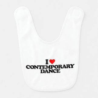 I LOVE CONTEMPORARY DANCE BABY BIBS
